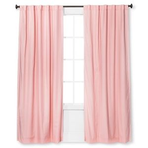 NEW Pillowfort Pink Twill Blackout Curtain Panel